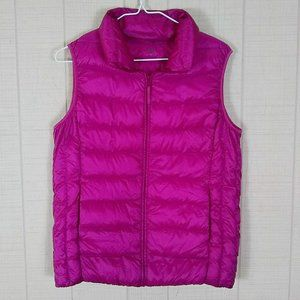 Uniqlo Hot Pink Down Puffer Vest